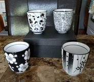 **REDUCED** BNIB: Black/White Ceramic Tea Set in Fort Campbell, Kentucky