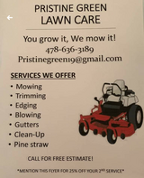 Pristine Green Lawncare in Perry, Georgia