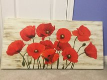 Red poppies canvas art in Baytown, Texas