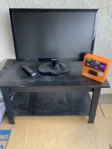"Samsung TV Model # SyncMaster T27A300 26"" x 16"", TV Remote Control, TV Stand, Roku Stick 2 in Camp Pendleton, California"