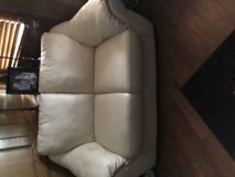 NATUZZI LEATHER SOFA LOVE SEAT CHAIR AND OTTOMAN in The Woodlands, Texas