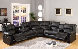 United Furniture - Kenia Sectional in Black or Brown (stiching not white) including delivery in Fort Riley, Kansas