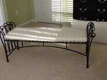 Wrought Iron Bench with cushion in Fort Belvoir, Virginia