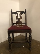 Vintage needlepoint chair in Fort Campbell, Kentucky