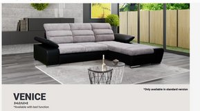 United Furniture - Venice Sectional with Bed - Storage Chaise also on other side (all colors). in Shape, Belgium