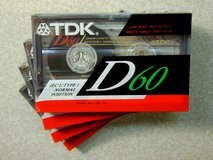 Five NEW TDK D60 Cassette Tapes in Chicago, Illinois