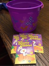 Easter bucket & 4 game tablets in Naperville, Illinois