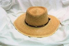 Men's Wide Brim Straw Fishing Hat Sun Shield Vented Hike Camp Summer in Kingwood, Texas