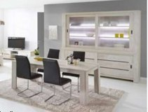 United Furniture - Gabriel - Extra Large China + Table 160 - 4 Chairs (black or white) incl.del in Mannheim, GE