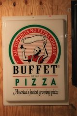 Buffet Style Pizza Sign in Fort Polk, Louisiana