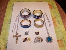 Costume Jewelry 4 Bracelets - 2 Rings - 2 Pins - 2 Necklaces in Joliet, Illinois