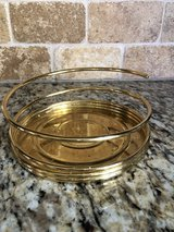 """Retired Partylite Gold/Brass Spiral Holder for Large 6"""" Candle in Westmont, Illinois"""