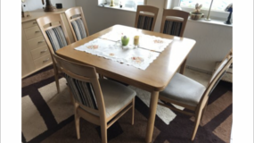 Massive Wood Table plus 8 chairs in Ramstein, Germany