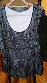 Lavender overlayed black lace in Fort Campbell, Kentucky