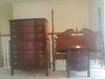 Full Size Four Poster Bed,  Chest of Drawers, and Nightstand in Bellaire, Texas