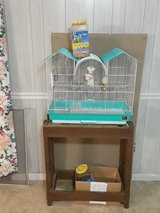 Bird Cage Stand Toys Feed Cups Perches 1/2 Jar Bird Seedd in Columbus, Georgia