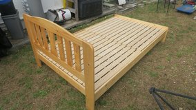 pine bed frame 77'' x 48'' new condition in Okinawa, Japan