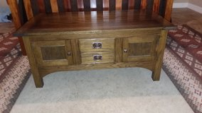 Custom Red Oak coffee table in Baytown, Texas