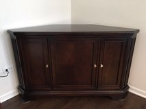 REDUCED PRICE !!!!!  Classic solid Wood, Walter E. Smithe Corner Cabinet with power strip in Aurora, Illinois
