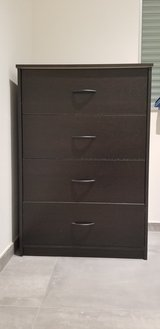 Dark Brown 4 Drawer Dresser in Grafenwoehr, GE
