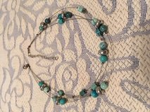 Turquoise Silver Choker on Wires Triple Strand Vintage Extension in Kingwood, Texas