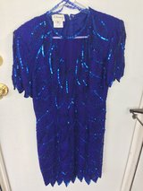 Dress blue with sequins size 10 in Tinley Park, Illinois