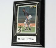 MINT ROOKIE 1994 Michael Jordan Baseball Card Collector's Choice Silver Signature on Wall Plaque... in Kingwood, Texas
