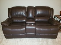 Leather loveseat and couch  recliners in Aurora, Illinois