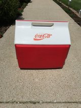 Vintage Igloo Coca Cola Playmate Red/White Push Button Insulated Cooler in Batavia, Illinois