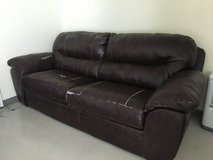Leather couches in Okinawa, Japan