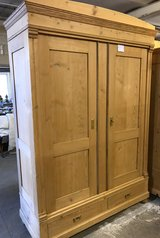 Antique pine armoires in Ramstein, Germany
