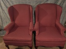2 matching wing back chairs in Clarksville, Tennessee