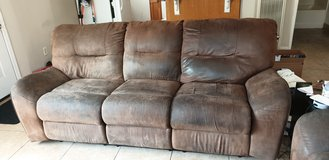 Microfiber couch and love seat recliners in 29 Palms, California