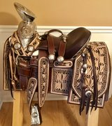 """""SOLD""""NEW Horse Saddle.**Montura Charra**for Sale in Naperville, Illinois"