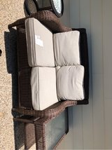 Rattan couch in Kingwood, Texas