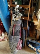 Complete set of golf clubs,bag,roughly 1000 used golf balls in Plainfield, Illinois