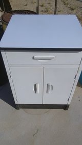 metal cabinet with porcelain top in Yucca Valley, California