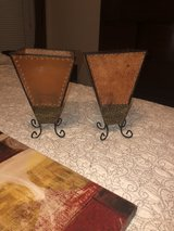 3 piece wall decor and matching candle holders in Conroe, Texas
