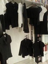 Tops and blouses size S mostly black or white about 30 items total $1 each in Stuttgart, GE