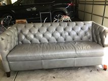 gray leather couch in Bolingbrook, Illinois