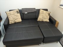 Leather Couch and Ottoman in Lakenheath, UK