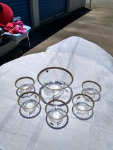Glasses and Bowl Set (Made in Italy) in Warner Robins, Georgia