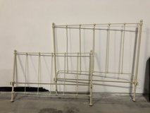 White Iron Bed Frame in Fort Campbell, Kentucky