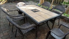 Patio table and chairs in Houston, Texas