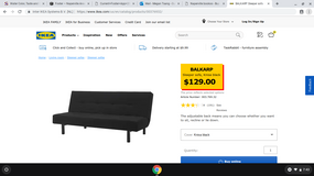 Ikea soft bed in Great Lakes, Illinois