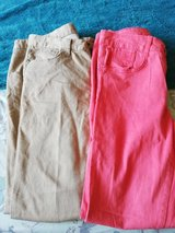women's trousers beige and coral skinny leg size UK 12 in Lakenheath, UK