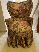 Small upholstered chair in Fort Belvoir, Virginia