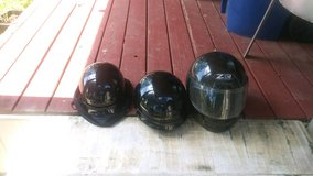 Three motorcycle Helmets in Fort Polk, Louisiana