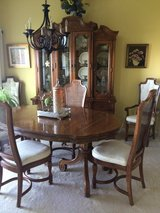 Dining room set - 6 chairs and china cabinet in Aurora, Illinois