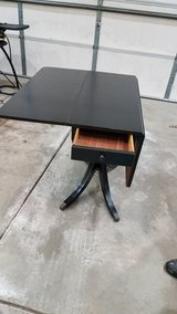 black drop table with drawer in Aurora, Illinois